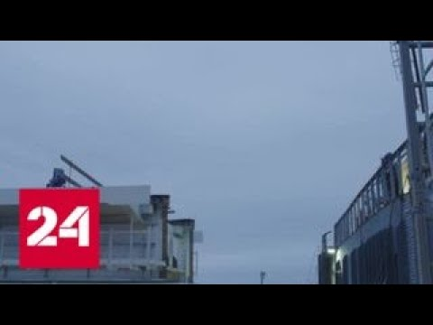 Дорога в Крым: идет надвижка последней из мостовых конструкций - Россия 24