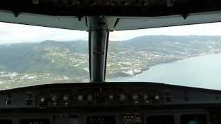 Landing flight HQ7646 at Funchal Airport (FNC) 1/12/2013 - cockpit view