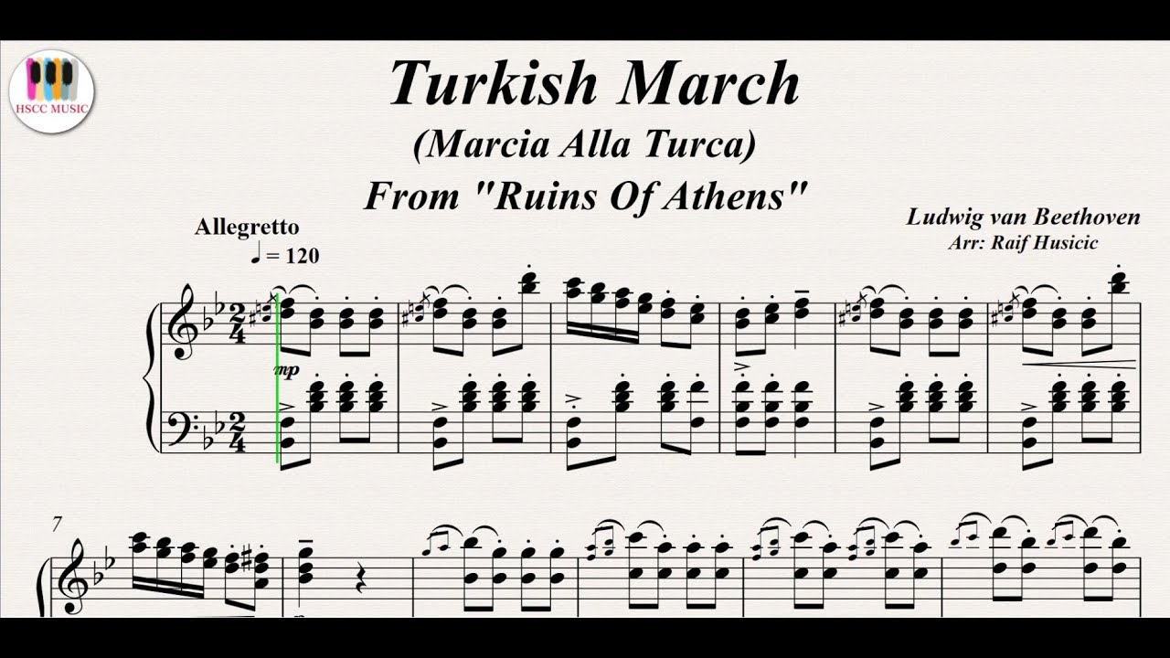Turkish March (Marcia Alla Turca), Ruins Of Athens - Ludwig van Beethoven,  Piano