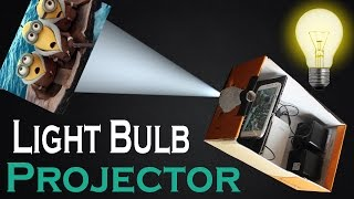 How To Make Light Bulb Smart Phone Projector At Home Easy DIY Light Bulb and Shoe Box Projector