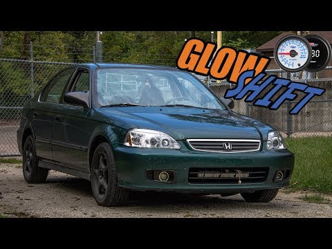 Glow Shift Sandwich Plate and Gauge Review (Honda Civic)