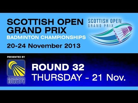 R32 - MS -  Lucas Claerbout vs Lukas Schmidt  - 2013 Scottish Open Grand Prix