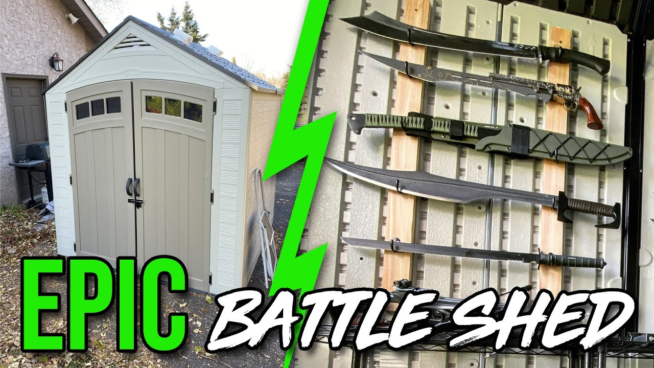 EPIC BATTLE SHED! ($5000 worth of knives)