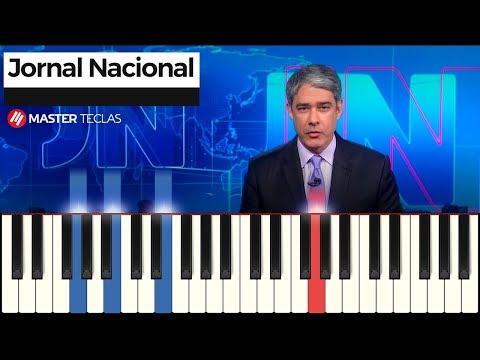 💎 Abertura - Jornal Nacional  Piano Tutorial 💎