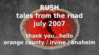 Rush - Tales from the Road - Hello Irvine Meadows