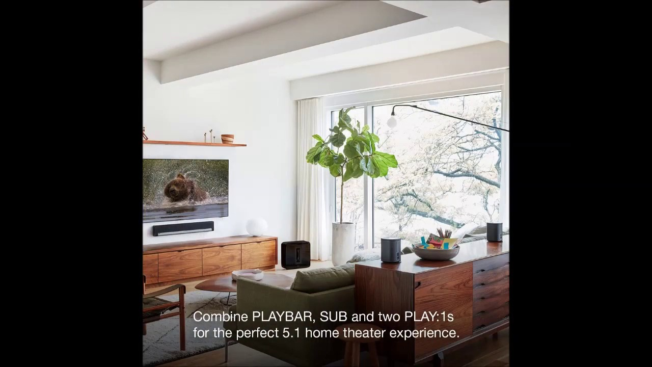 Sonos 5 1 Home Theater System PLAYBAR, SUB, PLAY 1 Wireless Rears ...