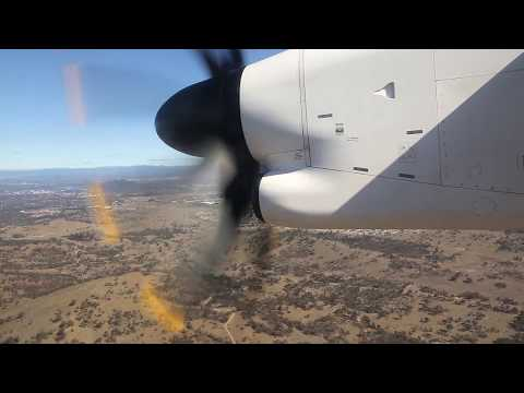 QantasLink Bombardier Dash 8 Landing - Canberra (QF 1473)