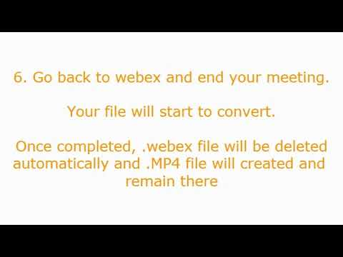 How to convert .webex file to MP4