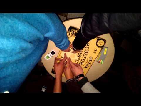 Ouija board at Dudley castle
