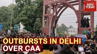 Outbursts In National Capital: Students Of Jamia Demonstrate Protests Against CAA