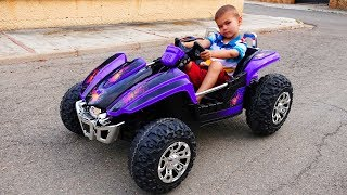 Funny Dima Unboxing And Assembling The POWER WHEEL Ride On New Buggy