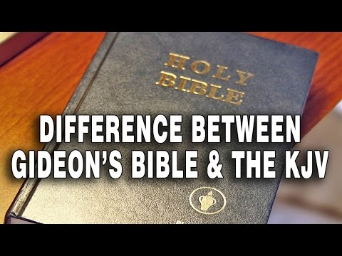 Difference Between Gideon's Bible and the KJV