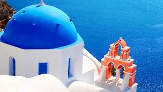 Santorini Greece the wonderful island, mental relaxation, natural chromotherapy, peace of mind.