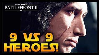 TOTALNY SPAM BOHATERÓW 9 VS 9!  STAR WARS BATTLEFRONT 2 PL ☄️