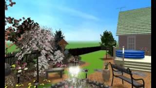 Ландшафтный дизайн участка с беседкой и мостиком