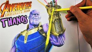 Como Dibujar a THANOS de Avengers Infinity War Colores Escolares. SORTEO Día del Niño DibujAme Un