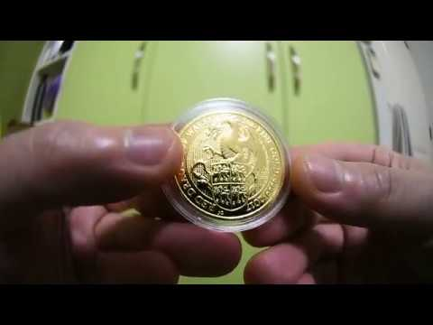 Royal Mint 2017 Gold bullion 1 oz Queen's Beasts DRAGON coin review HOT