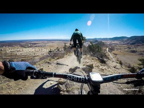 Mountain Biking Dakota Ridge to Red Rocks in Morrison, Colorado
