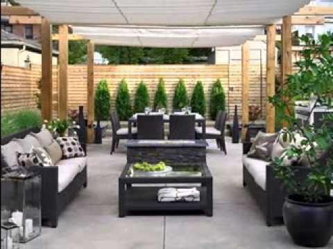 small backyard patio design ideas Backyard decorating ideas - YouTube