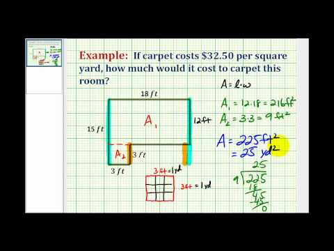 Example: Determine Square Yards from Square Feet Application - YouTube
