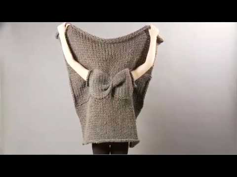 Knit Wrap Stitch Together : #18 Cabled Wrap, Vogue Knitting Winter 2008/09 - YouTube