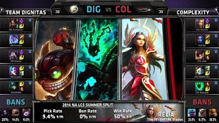 Dignitas vs compLexity | S4 NA LCS Summer split 2014 Week 10 Day 2 | DIG vs COL W10D2 G4