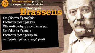 Georges Brassens - Le parapluie - Paroles ( karaoké)