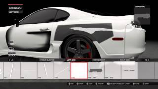 Forza 5 painting tutorial fender/hood ep2
