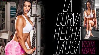 fitness model eva andressa en beach body gym miami