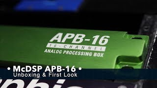 국내 최초 McDSP APB-16 Unboxing & First Look / Plug-in & Hardware Tutorial #103