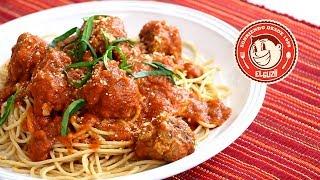 Espagueti Y Albóndigas (meatballs) - El Guzii