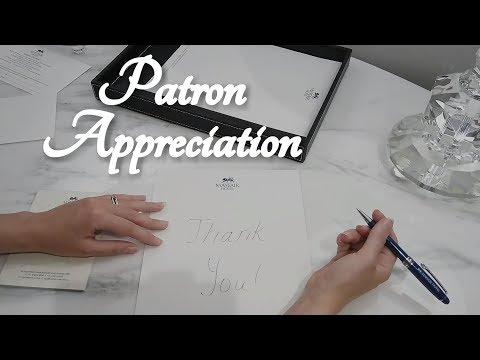 ASMR Patron Appreciation at a Luxury Hotel (Writing, Sharpie)