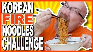 Korean Fire Noodles Challenge!   극단적 인 불닭 볶음면 도전! | KBDProductionsTV