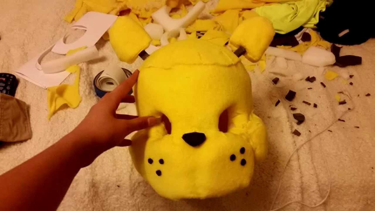 making of golden freddy mask youtube