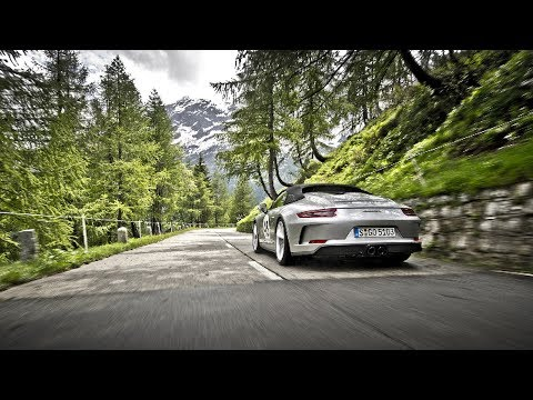 Classic and contemporary Porsche cars take on Gotthard Pass for Curves Magazine