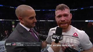 UFC Phoenix: Entrevista no Octógono com Paul Felder