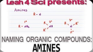 Naming Amines using IUPAC Nomenclature for Organic Compounds by Leah4sci
