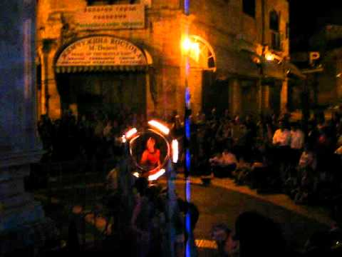 Jerusalem Light Festival 2012- Pyrotechnics in the Christian Quarter