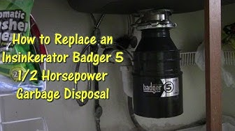 How to Replace an Insinkerator Badger 5 Garbage Disposal by @GettinJunkDone