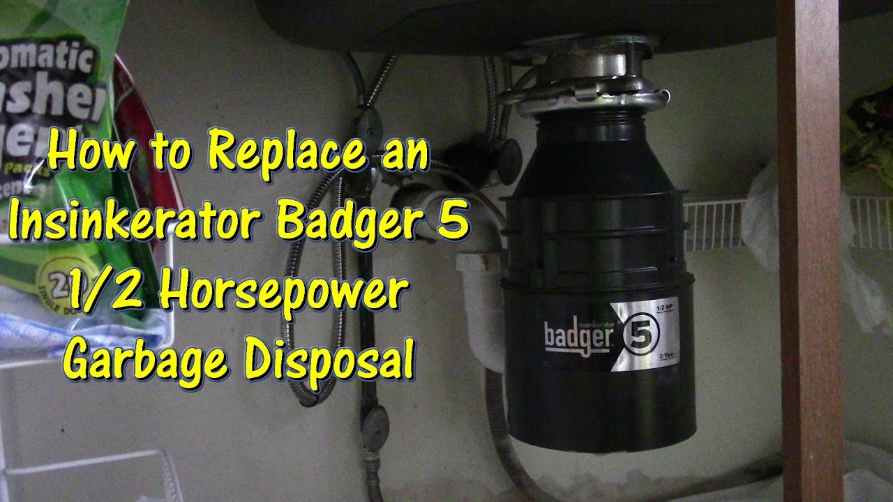 how to replace an insinkerator badger 5 garbage disposal by gettin junk done