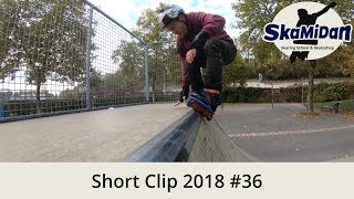 Practicing My Very First 540° In A Mini Ramp — Short Clip 2018#36