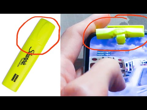 CALL OF DUTY MOBILE CONTROLLER AND TRIGGER WITH MARKER | How to make FIRE BUTTON L1 R1