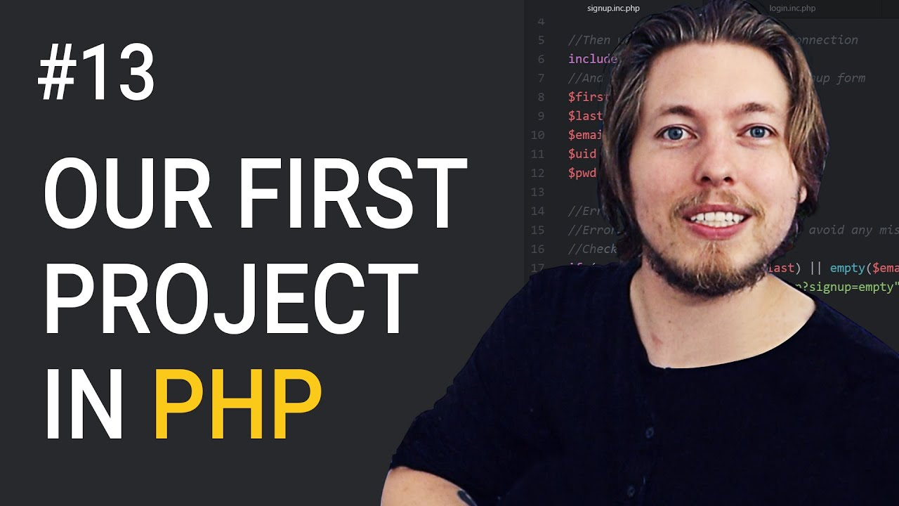 13: Our First PHP Project! | Procedural PHP Tutorial For Beginners | PHP Tutorial