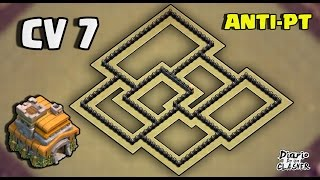 Melhor Layout de Guerra Para Cv 7 | ANTI DRAGÃO | ANTI PT [Th 7 War Base Anti 3 Star] - CoC