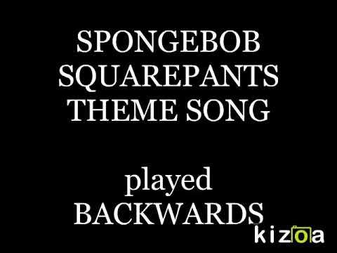 Spongebob Squarepants Theme Song - BACKWARDS with LYRICS ...