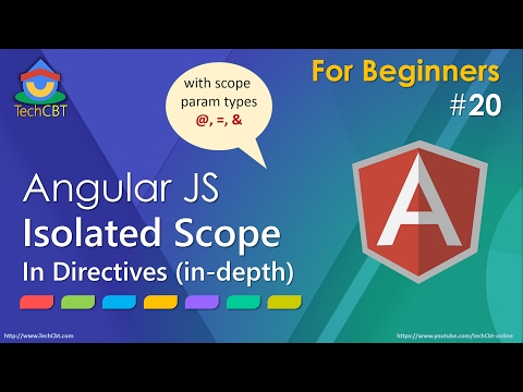 AngularJs Tutorial: Isolated Scope In Directives (in-depth)