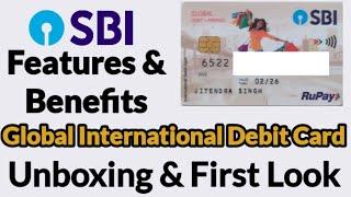 SBI Global International Debit Card 2021 | Unboxing SBI Global Contactless Card | First Look |