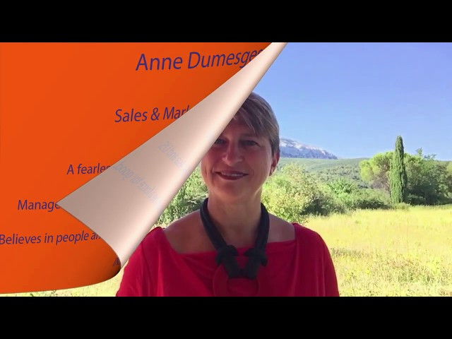 Anne, Sales & Marketing Director - France