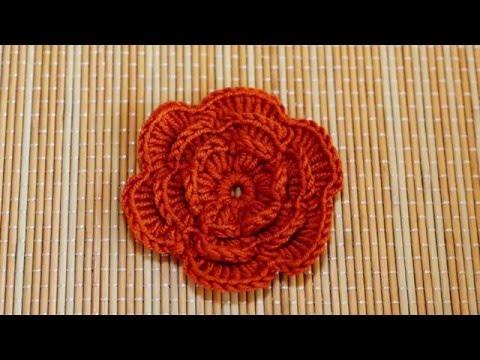 How to Crochet a Flower Part 1 - ถักดอกไม้โครเชต์ตอนที่ 1