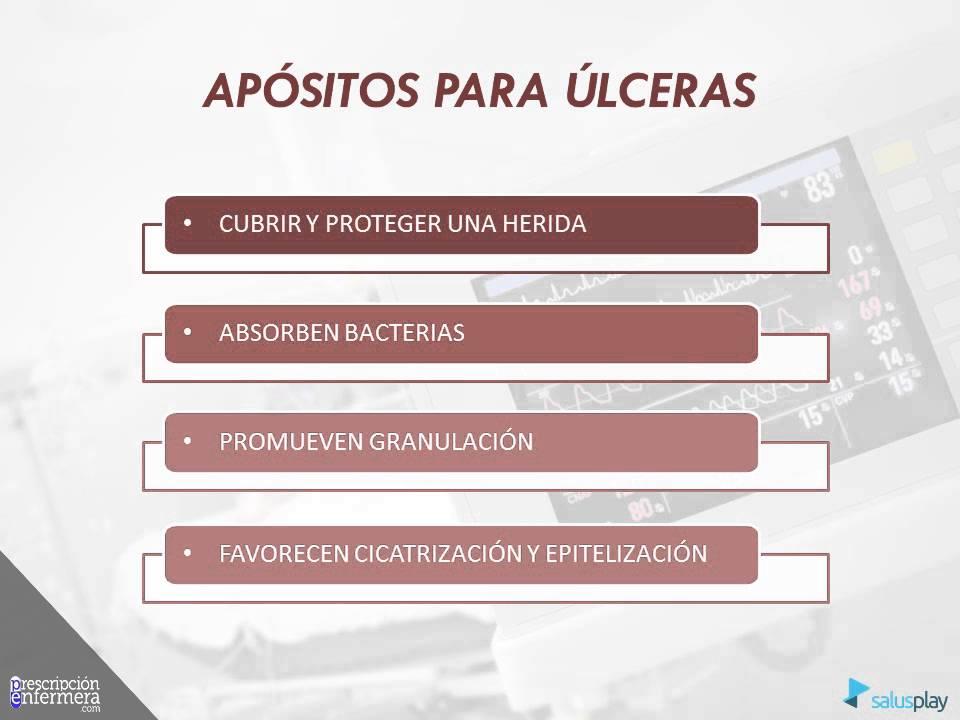 APÓSITOS CONVENCIONALES Y APÓSITOS INDICADOS EN ÚLCERAS